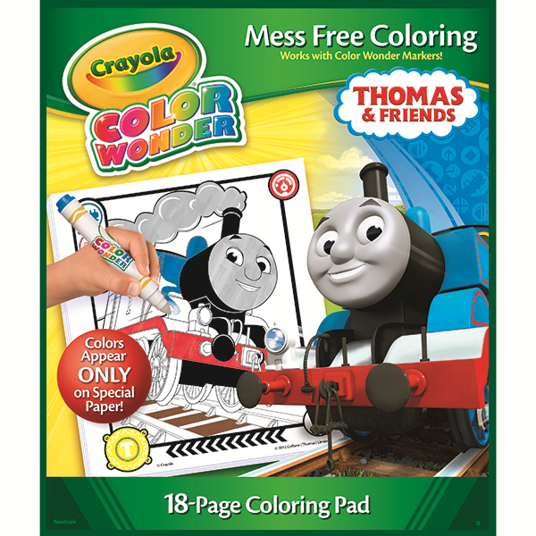 crayola color wonder mess free markers and coloring pad thomas friends coloring book