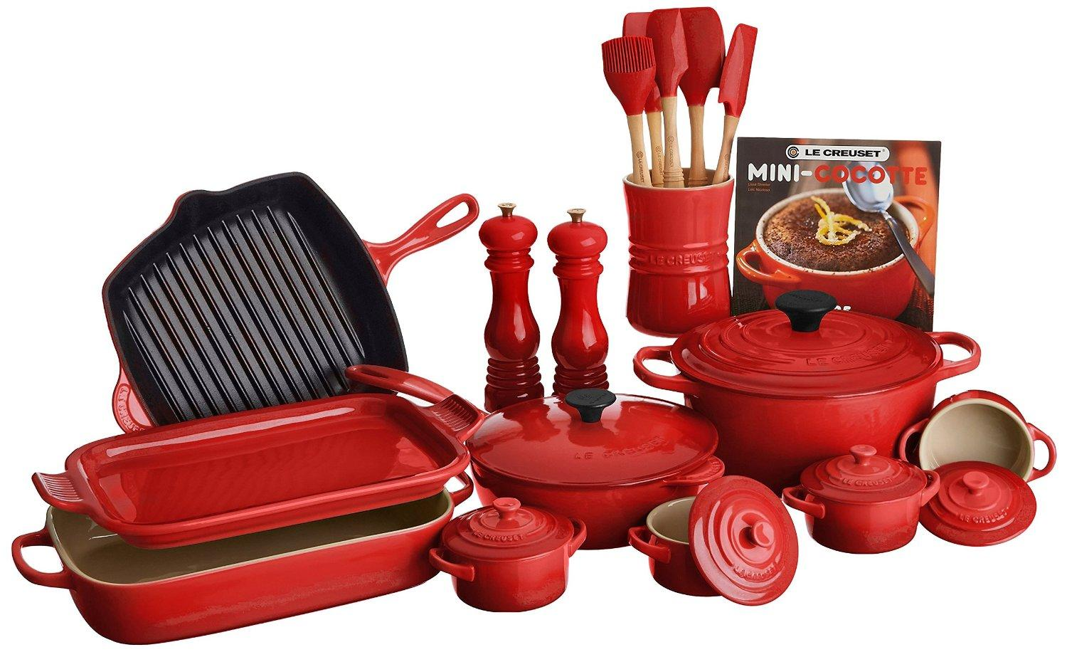 Le creuset of america 20 piece cookware set for Kitchen set olx