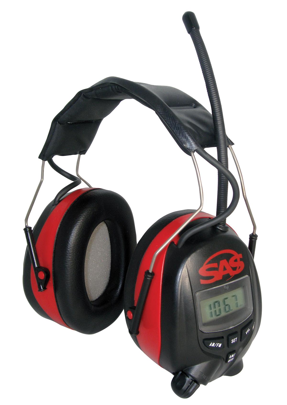 Sas safety 6108 digital earmuff hearing protection with amfm radio from the manufacturer ccuart Choice Image