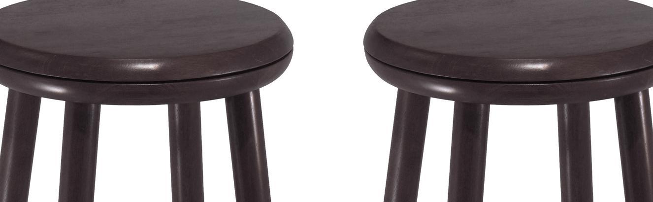 Amazon Com Winsome Wood 24 Inch Swivel Bar Stools Dark