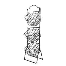 mikasa gourmet basics, kitchen storage, wire racks, metal baskets, fruit basket, storage bins