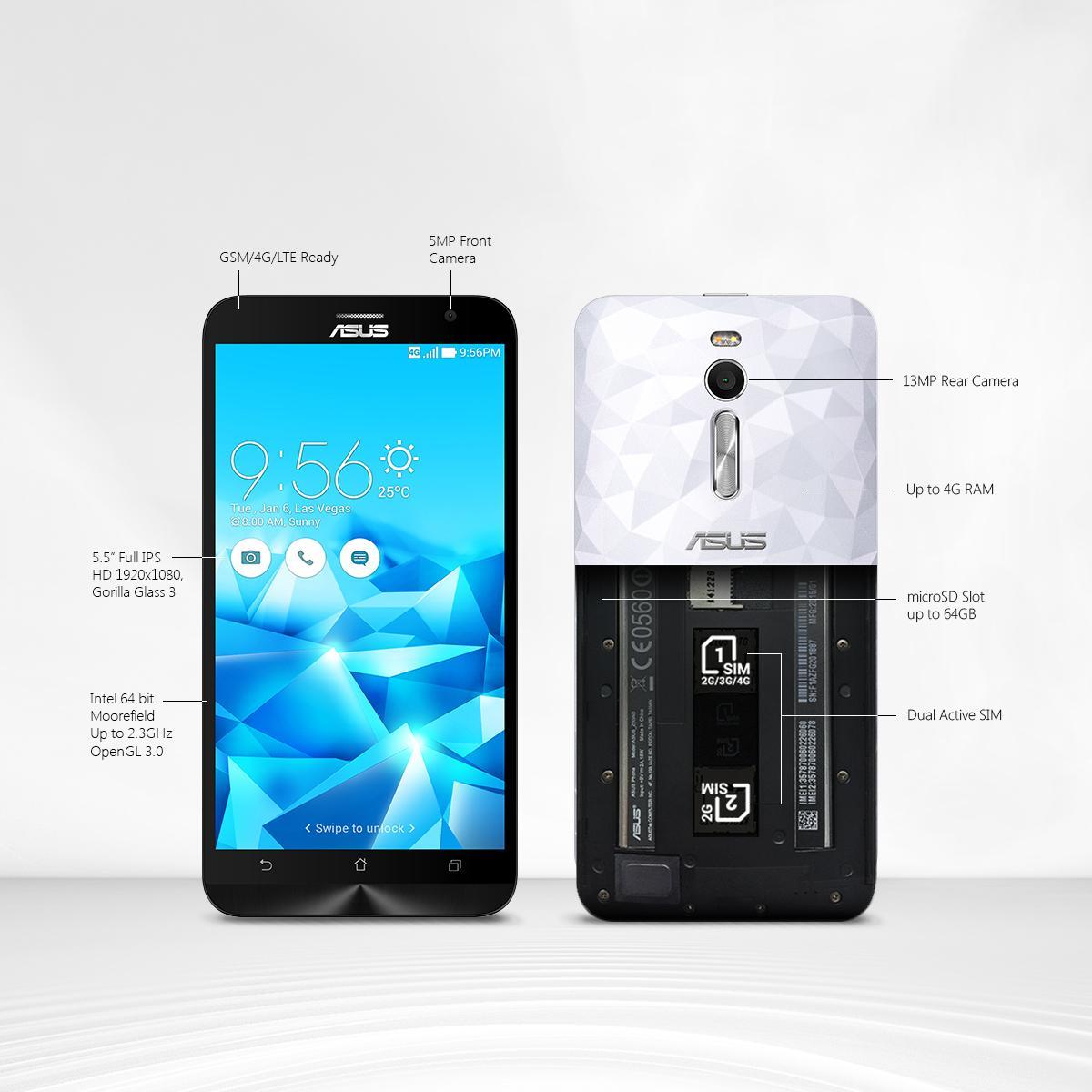 Amazon ASUS ZenFone 2 Unlocked Cellphone 16GB