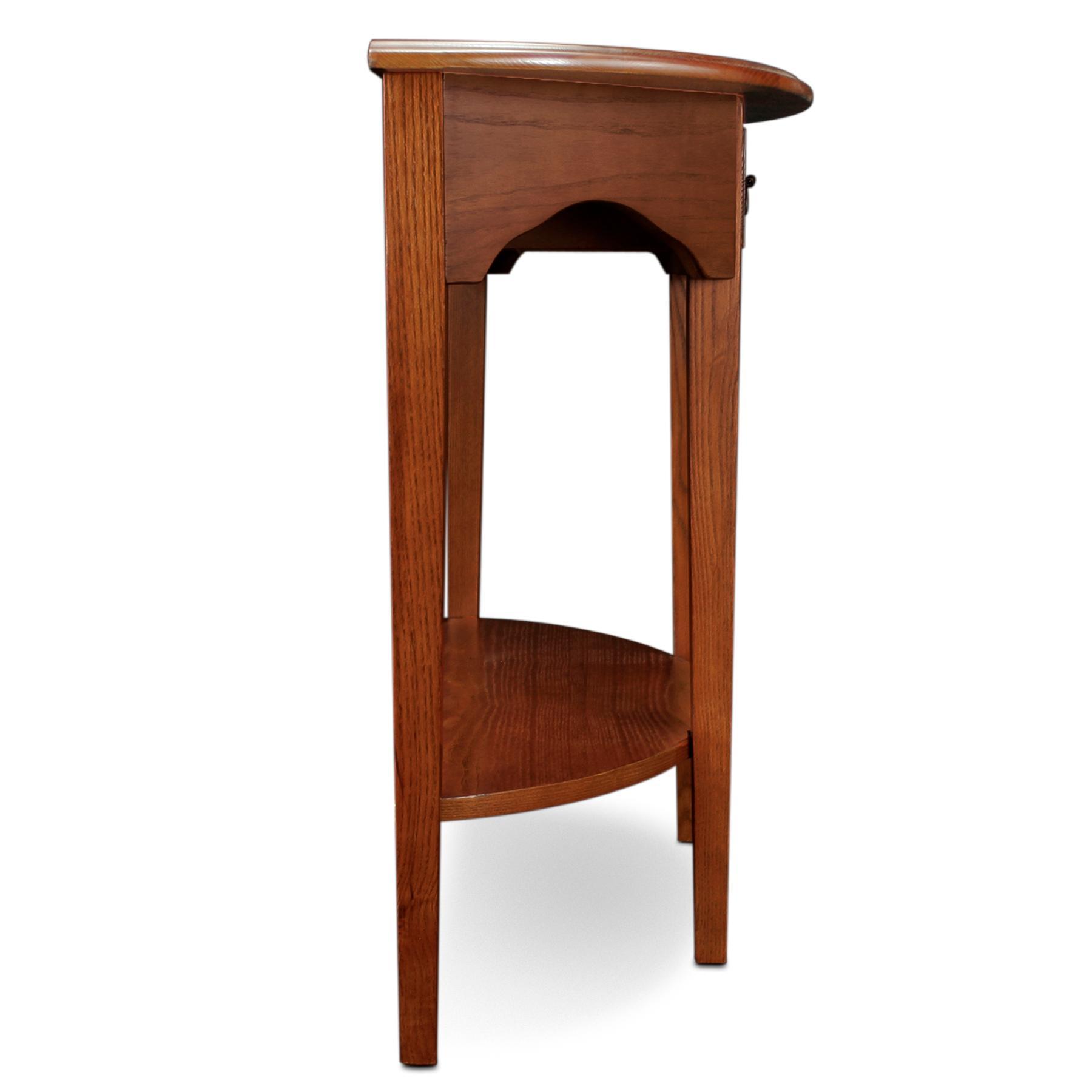 Amazon Com Leick Demilune Hall Console Table Medium Oak