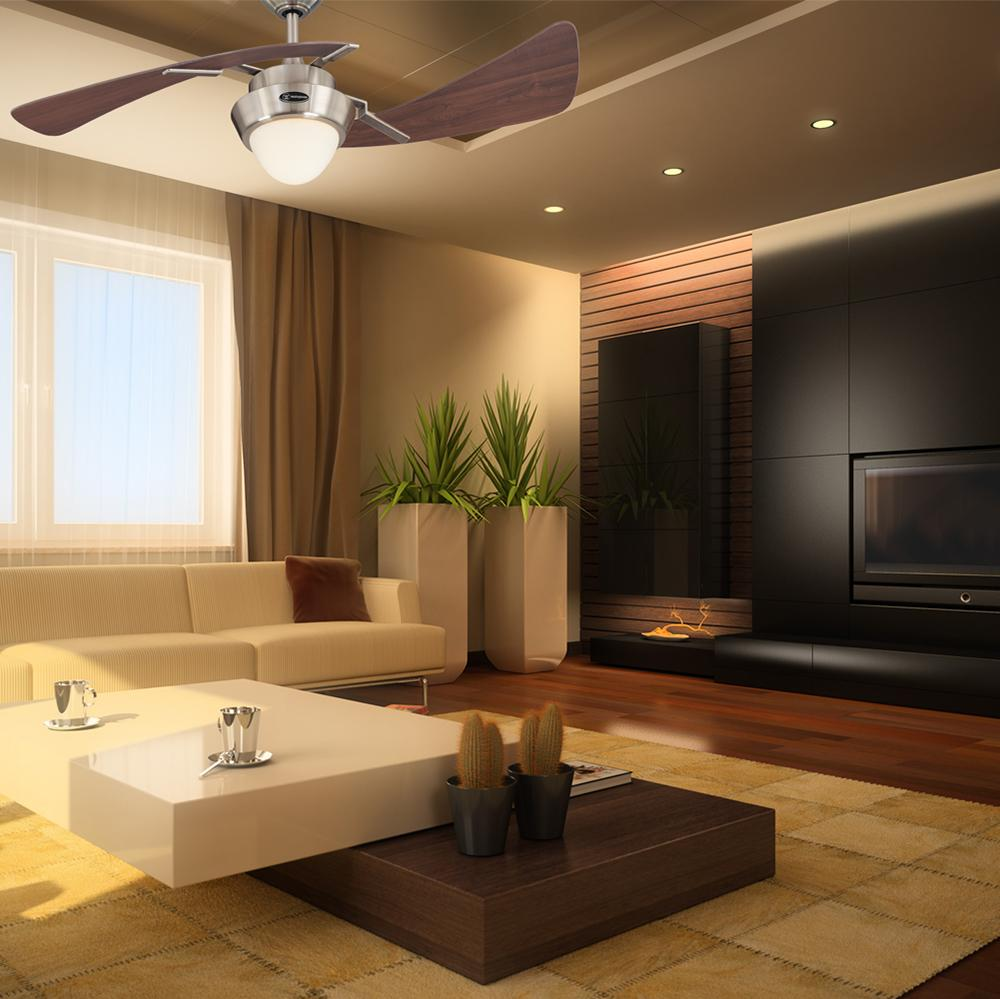 7214100 Harmony 48Inch Brushed Nickel Indoor Ceiling Fan Light