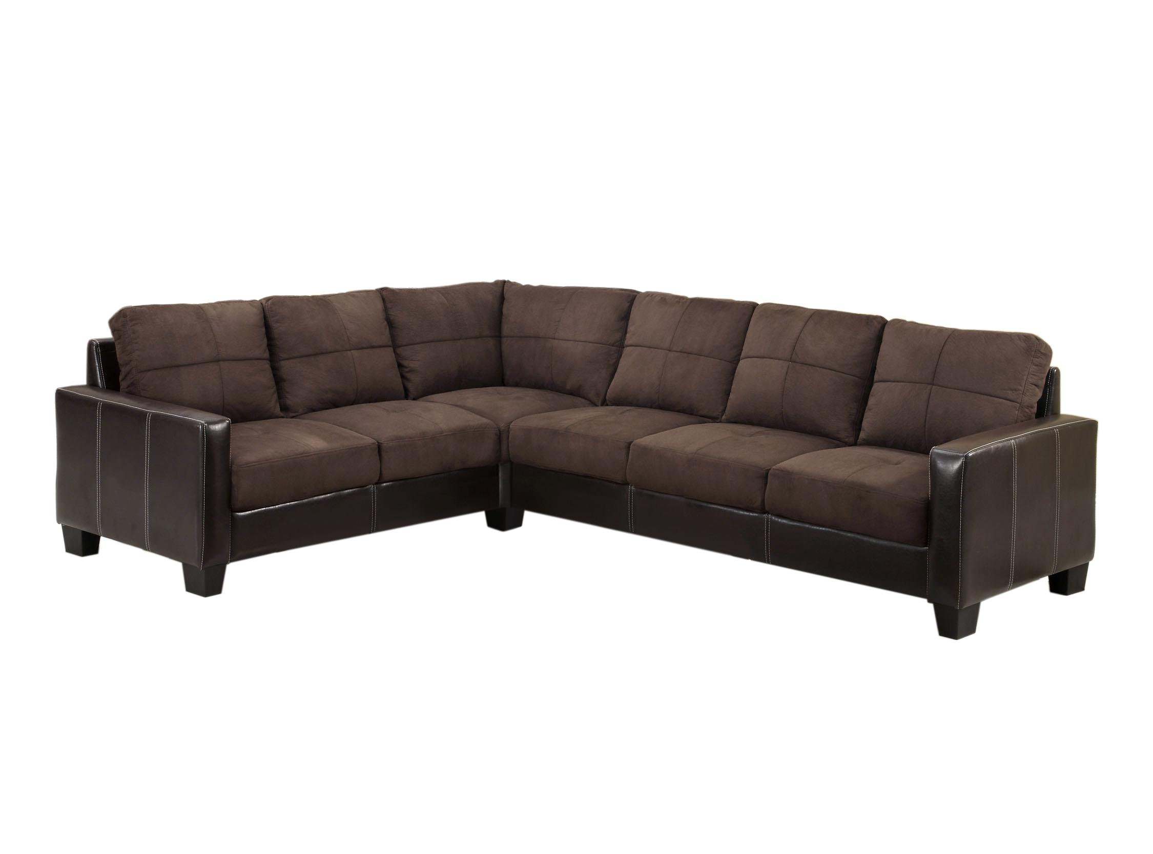 Amazon Furniture of America Microfiber Upholstered Sectional