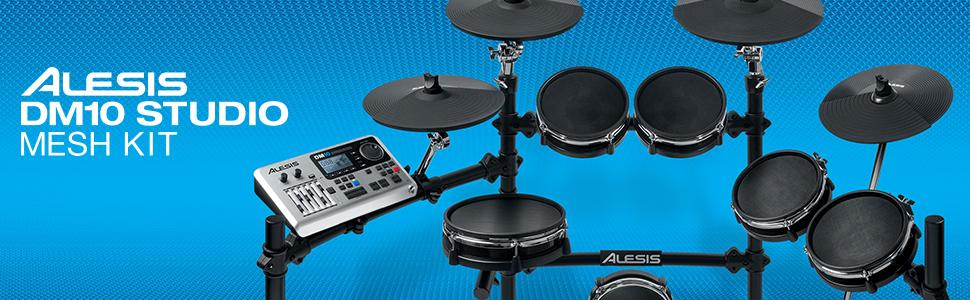 alesis dm10 studio mesh kit ten piece professional electronic drum set with black. Black Bedroom Furniture Sets. Home Design Ideas