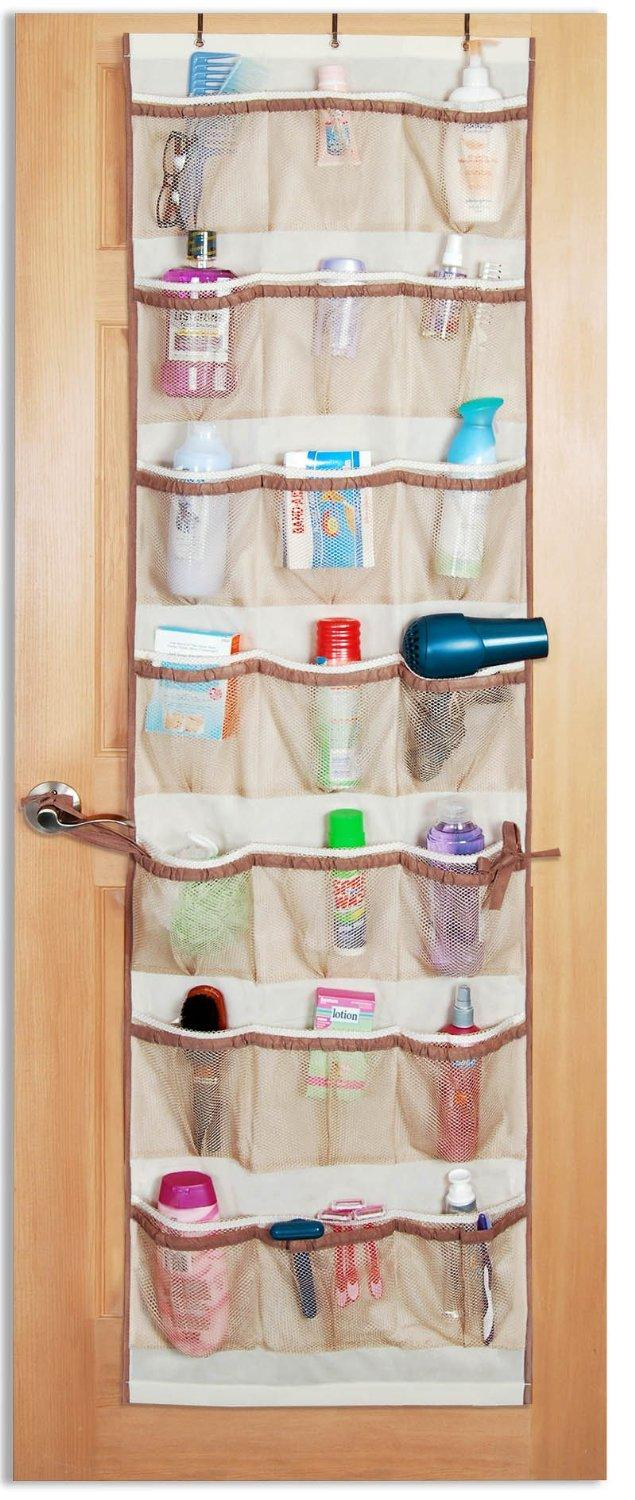 over door organizer bathroom  sc 1 st  Amazon.com & Amazon.com: PRO-MART DAZZ 42 Pocket Over The Door Organizer Beige ...