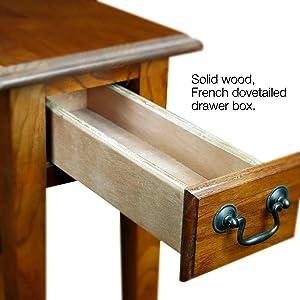 Amazoncom Leick Chair Side End Table Medium Oak Finish Kitchen