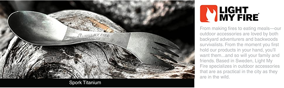 Titanium spork. The best titanium spork available from Amazon. Free two day shipping from Prime.