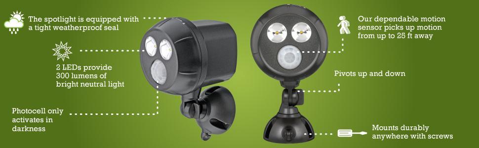 Amazon Com Mr Beams Mb393 300 Lumen Weatherproof Wireless