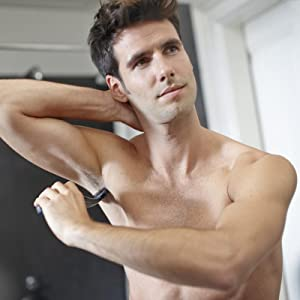 remove body hair, trimmer, groom body hair, groomer,