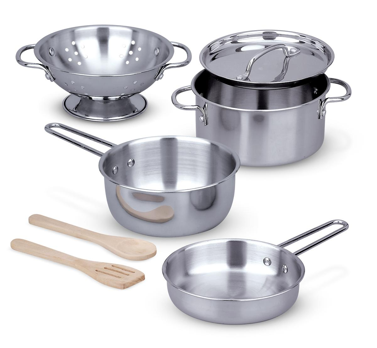 Kitchen Set Pots And Pans: Amazon.com: Melissa & Doug Stainless Steel Pots And Pans