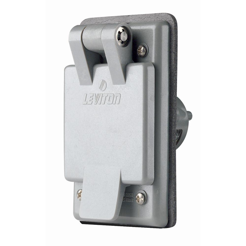 Leviton 5278-CWP 15 Amp, 125 Volt, Power Inlet Receptacle, Straight ...