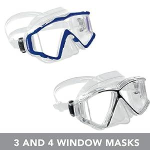 Amazon.com : Pano 3 Mask - Black/Black : Diving Masks : Sports