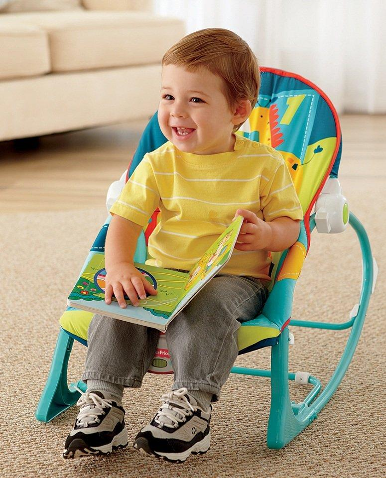Fisher price infant to toddler rocker dark for Toddler chair