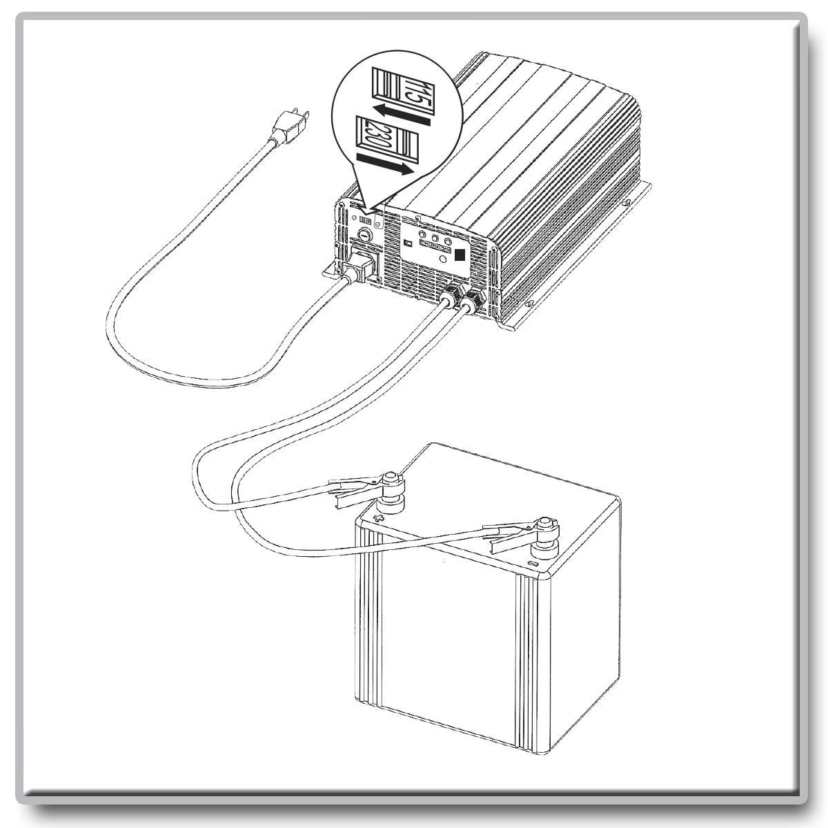 amazon com  tripp lite ubc41 4 in 1 battery charger 12v 24v 36v 48v lead acid 120  240v  home