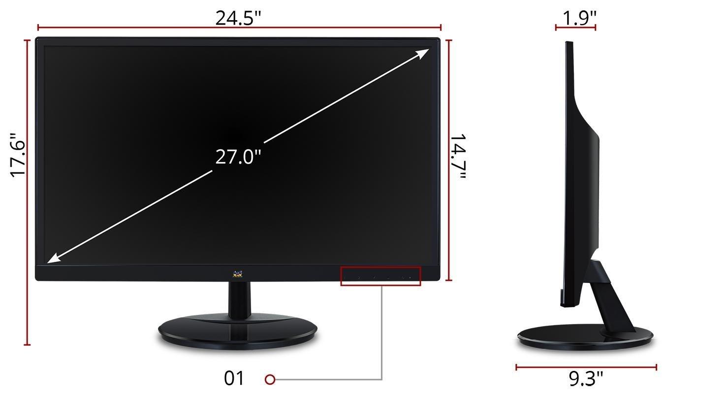 Amazon Com Viewsonic Va2759 Smh 27 Quot Ips 1080p Hdmi