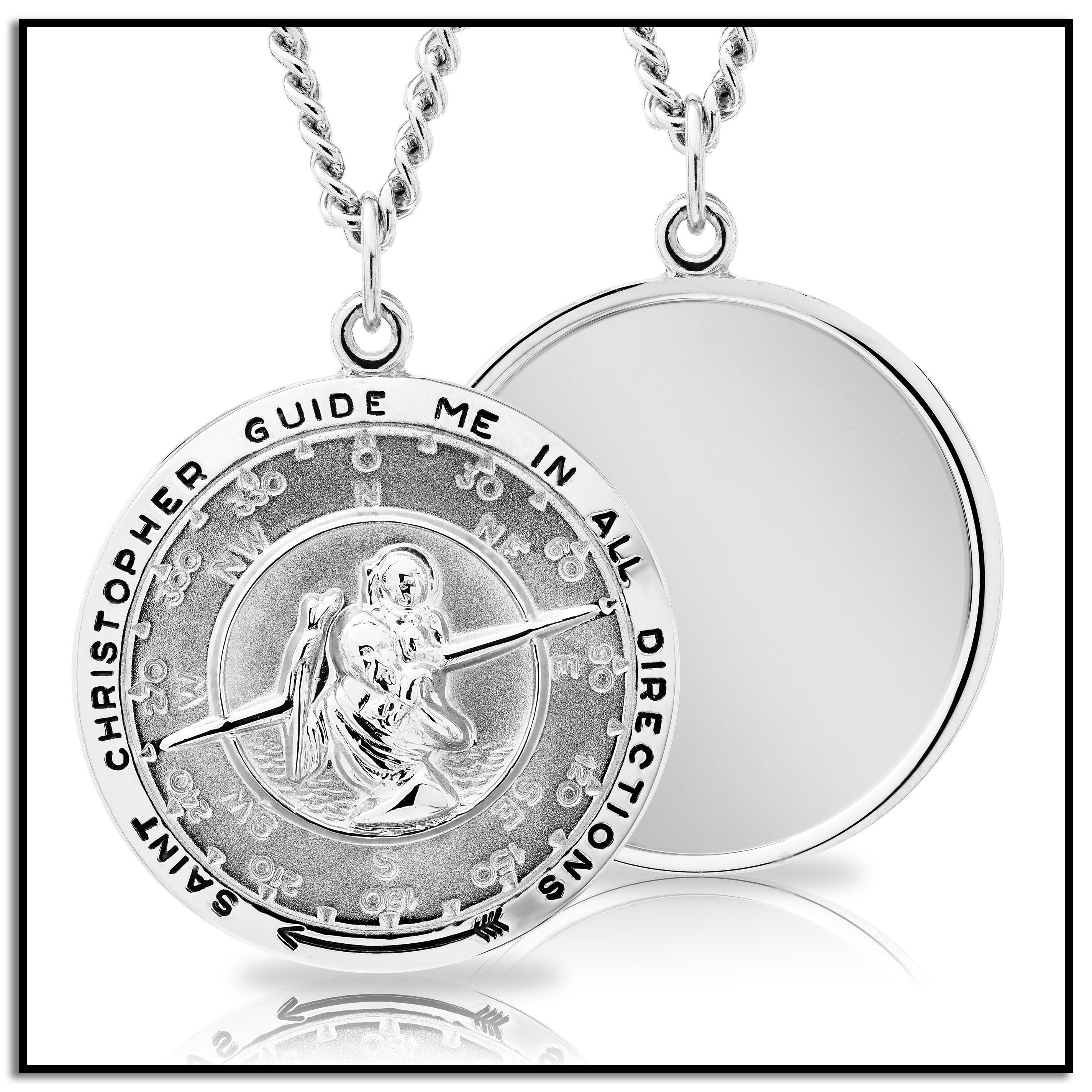 Amazon mens sterling silver saint christopher pendant necklace from the manufacturer mozeypictures Gallery