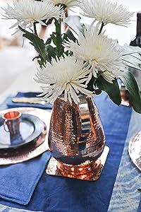 Wine Coaster, Sertodo Copper, Bottle Coaster, candle holder, pillar plate, copper coaster