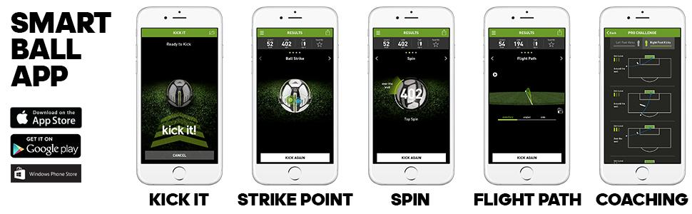 kick ball soccer smart ball micoach feedback spin trajectory strike point iOS adidas micoach