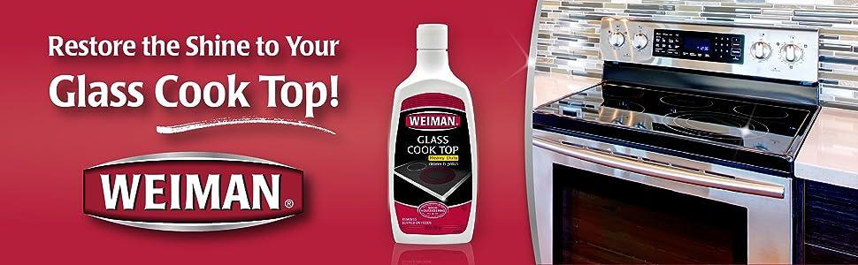 Amazon Com Weiman Glass Cook Top Cleaner Amp Polish Heavy