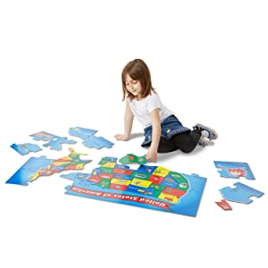 states, capitals, geography, toy for 6 year old boy, girl, United States, jigsaw,jumbo