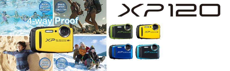 Amazon.com : Fujifilm FinePix XP120 Waterproof Digital Camera - Lime