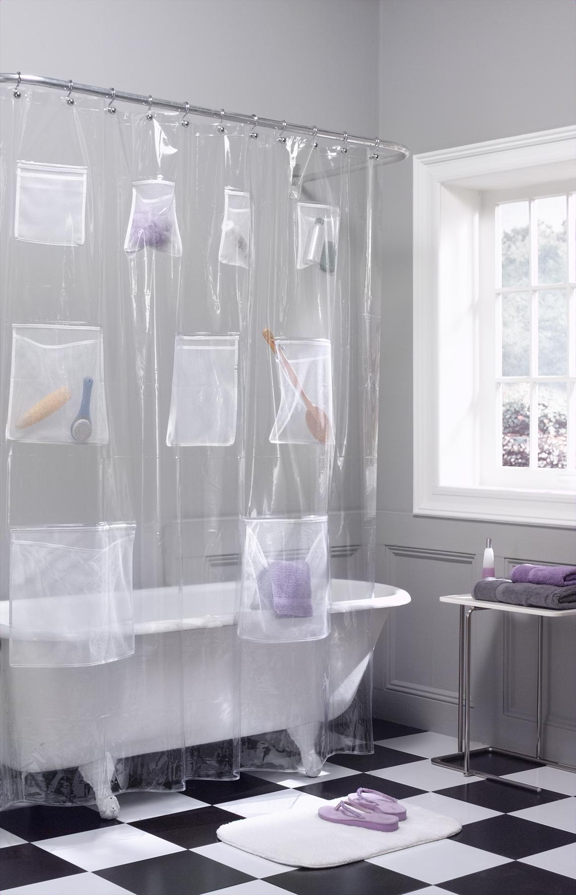 Off White Sheer Curtains Shimmering Shower Curtain