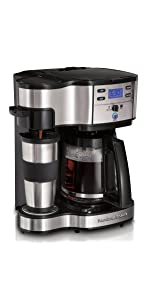 Amazoncom Hamilton Beach 49980z 2 Way Brewer 12 Cup Single Serve