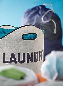 laundry, hamper, bin, green, bambooo