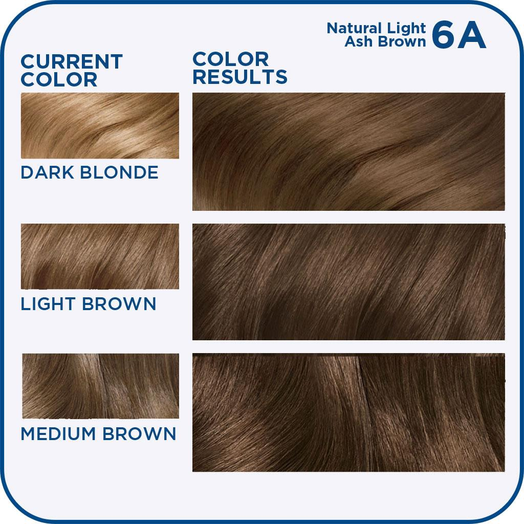 Hair Color 114, 6A Natural Light Ash Brown 1 Kit (Pack of 3): Beauty