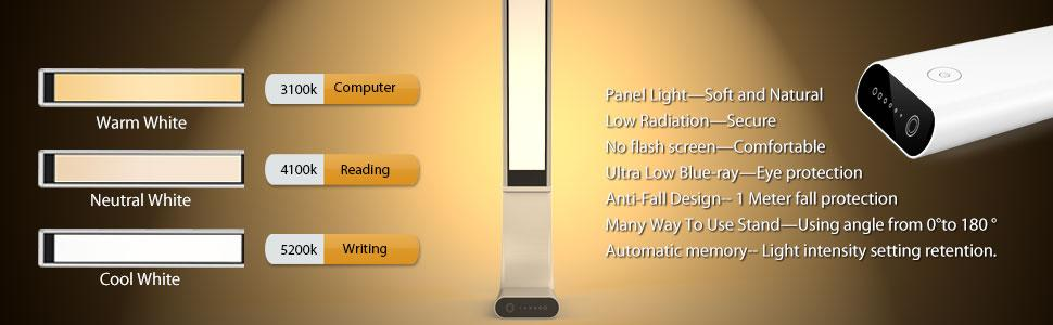 1byone Infinity Glow Eye Friendly Led Desk Lamp With 3