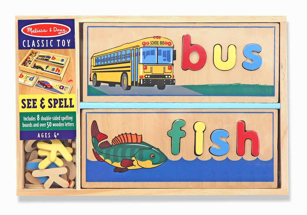 Melissa And Doug Toys : Amazon melissa doug see spell wooden educational