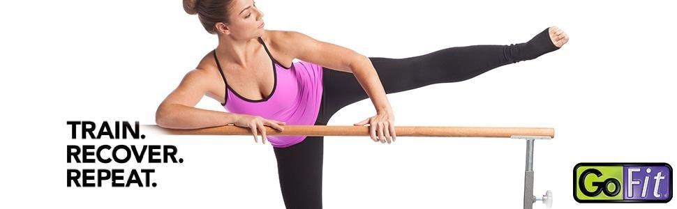 Amazon.com : GoFit GoBarre Ballet Workout Set, Portable, Adustable Free-Standing Ballet Bar for