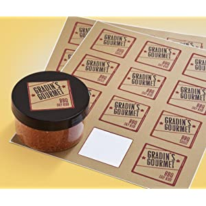 avery print to the edge square labels kraft brown 2 x 2 inches pack of 300. Black Bedroom Furniture Sets. Home Design Ideas