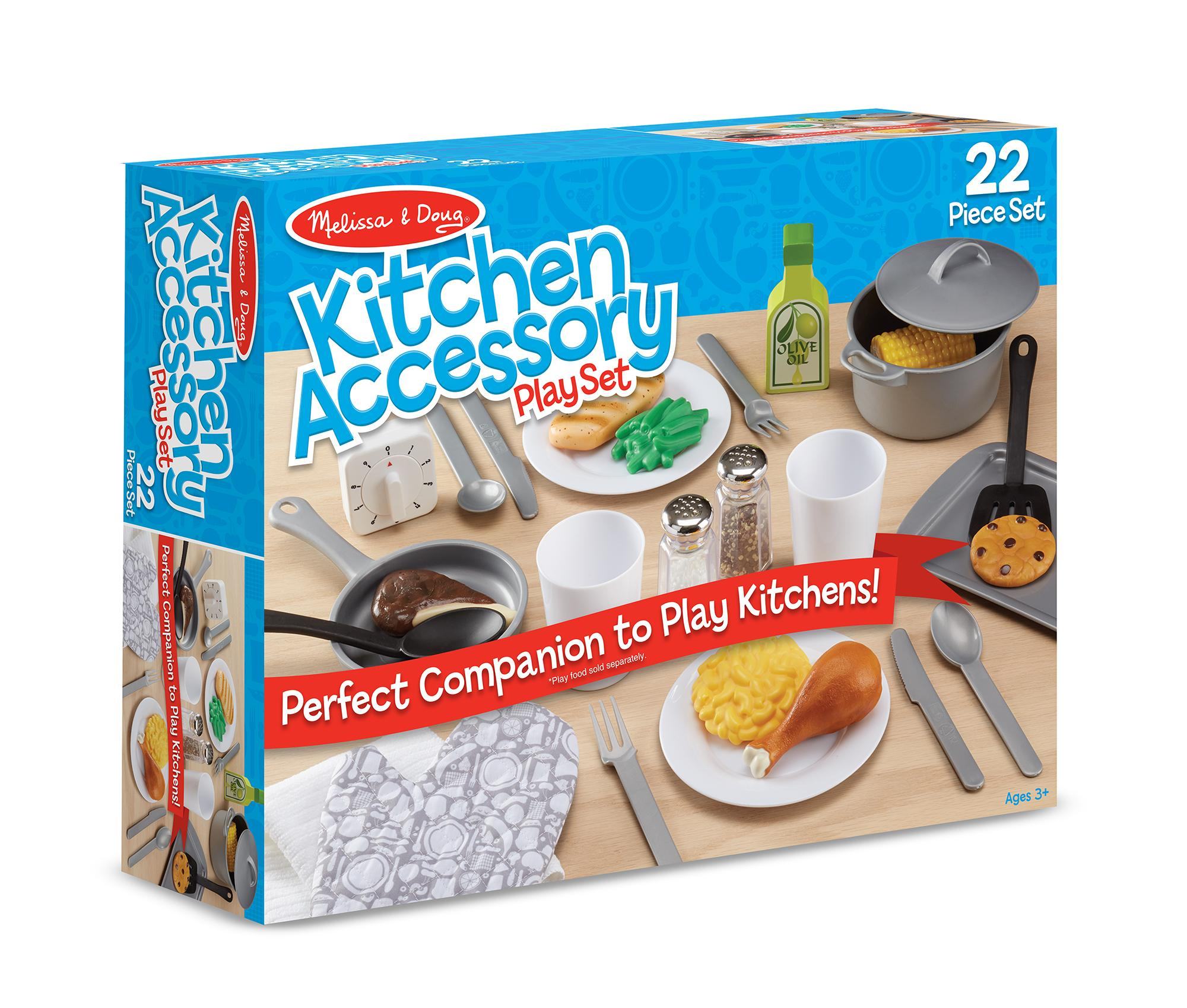amazoncom melissa  doug piece play kitchen accessories set  - view larger
