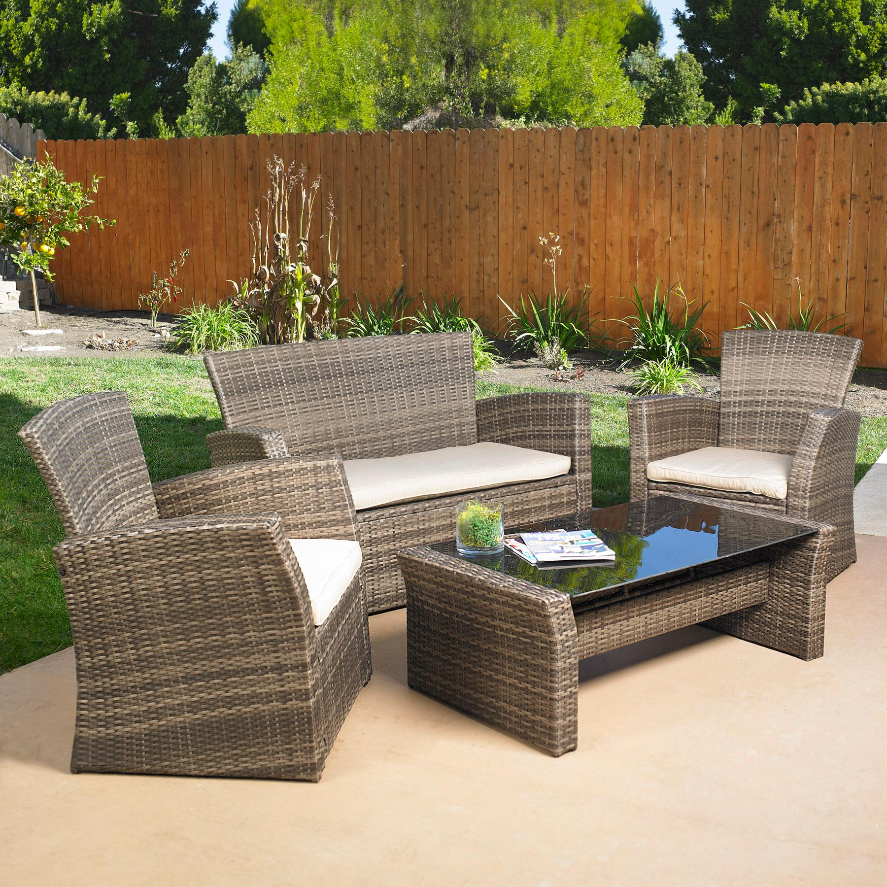 Amazon Mission Hills Redondo 4 Piece Sunbrella Seating Set