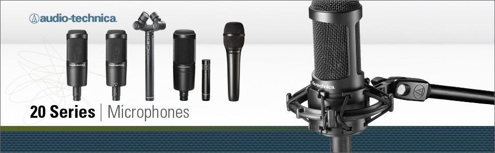 audio-technica, a-t, audio-technica microphones, audio-technica mics, audio-technica 20 series