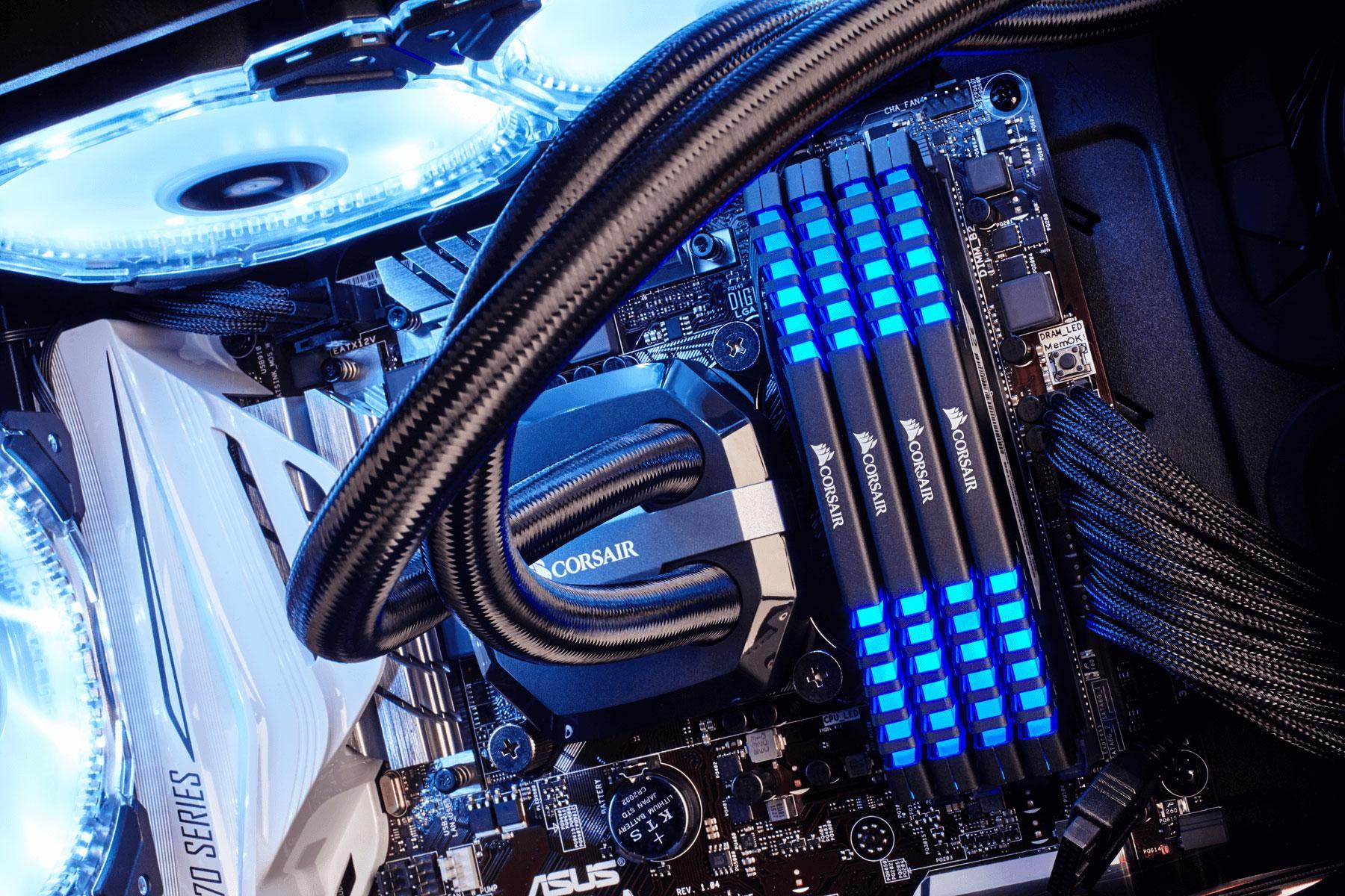 Corsair Vengeance LED 32GB (4x8GB) DDR4 3000 (PC4-24000 ...