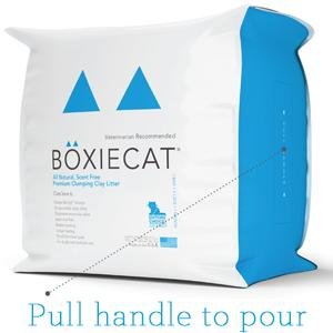 Boxiecat 28 lb packaging pull out handle