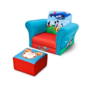 Charmant Mickey Upholstered Chair With Ottoman