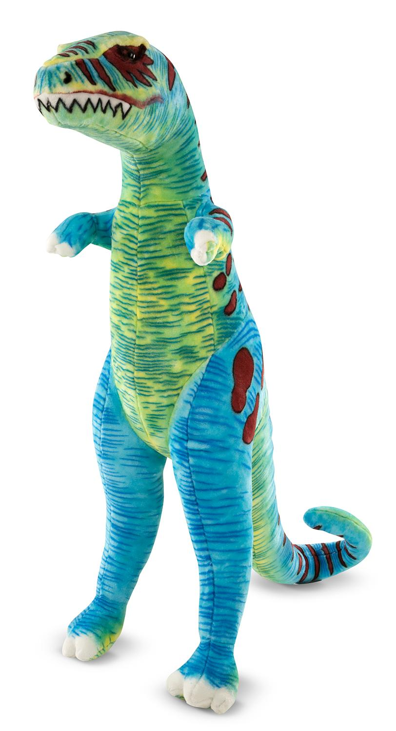 Amazon Com Melissa Doug Jumbo T Rex Dinosaur Lifelike Stuffed