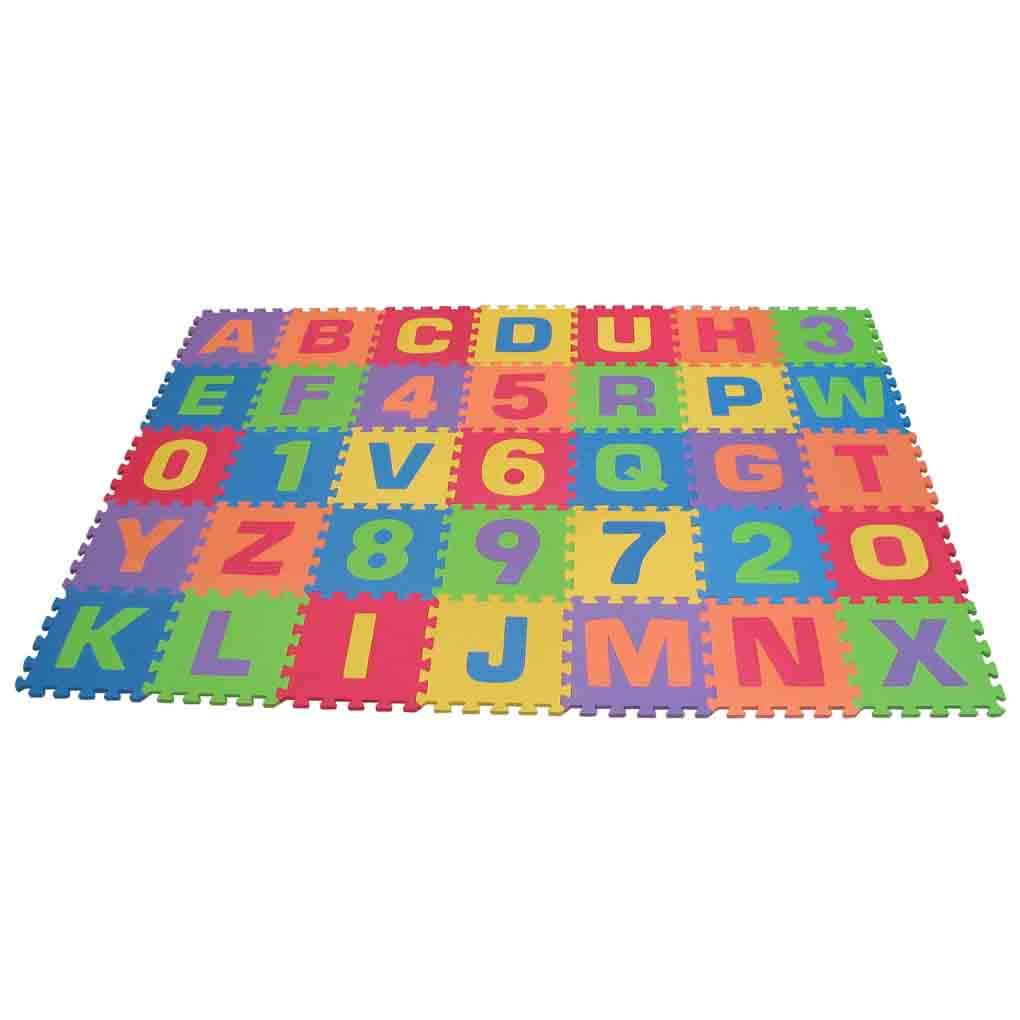 amazoncom edushape edu tiles letters numbers play mat With letter mat for babies