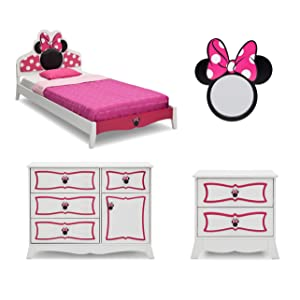delta children twin bedroom collection disney minnie