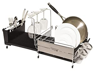Amazon Com Sabatier Expandable Compact Dish Rack With