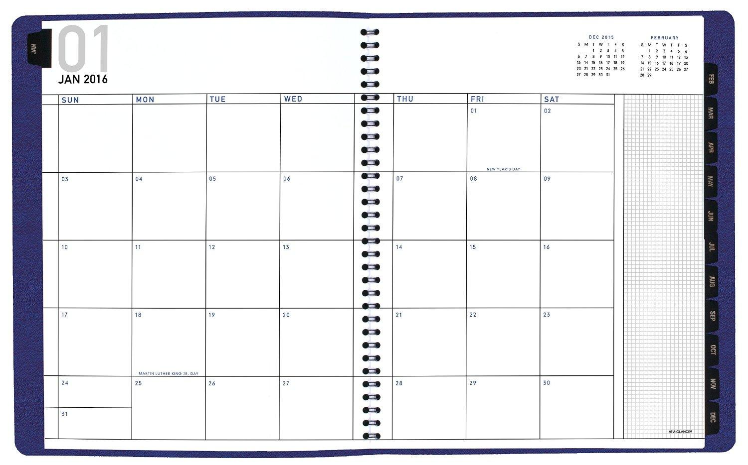 Amazon.com : AT-A-GLANCE Monthly Planner 2016, 8.5 x 11 Inches ...