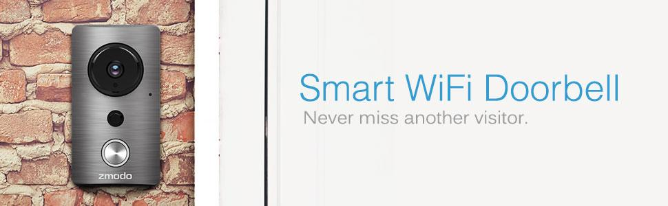 Amazon Com Zmodo Greet Smart Wifi Video Doorbell