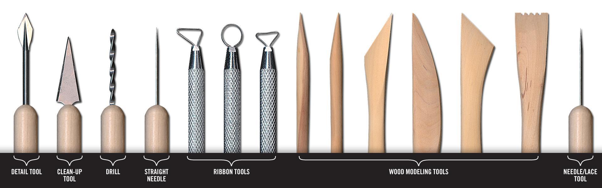 Amazon Com Pro Art 14 Piece Clay Tool Set With Case Arts Crafts