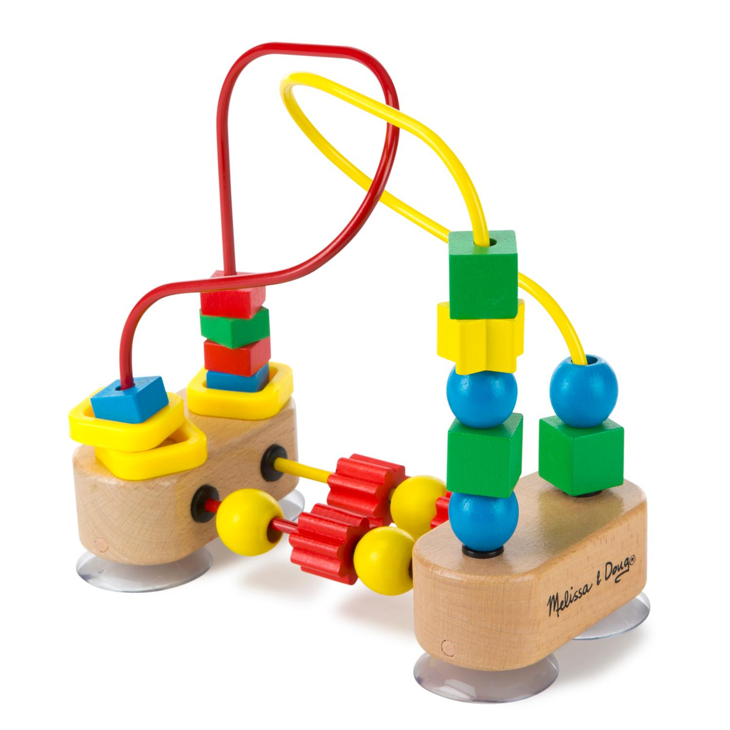 Amazon Com Melissa Amp Doug First Bead Maze Wooden