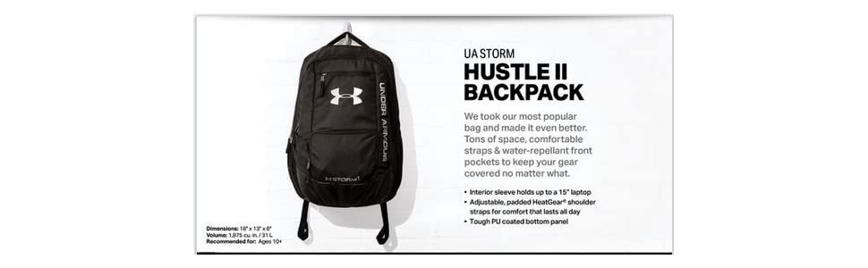 Amazon.com  Under Armour Storm Hustle II Backpack  Sports   Outdoors 68b6d861a26f9
